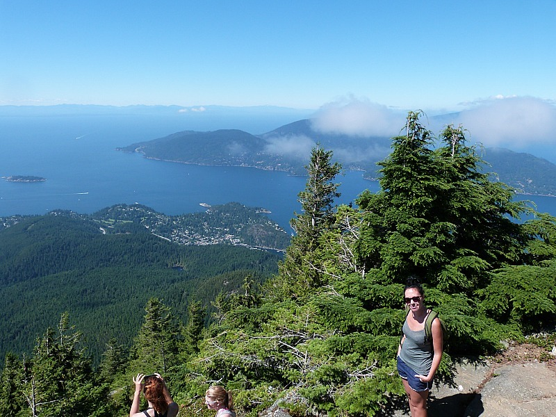 Hiking on Cypress Mountain, north of Vancouver