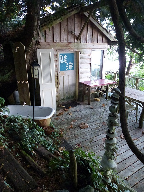 Our little waterside cabin on Quadra Island during our Canada in a Budget Adventure