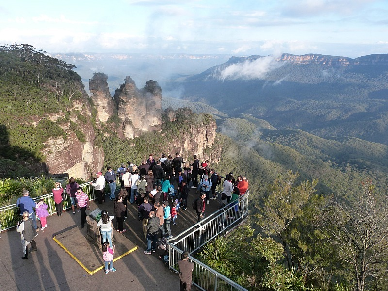 Blue Mountains Lookout over the Three Sisters in Australia