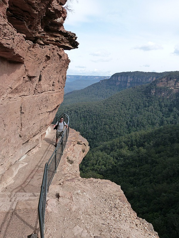 One of the best Blue Mountains lookouts above Wentworth Falls in the Blue Mountains of Australia