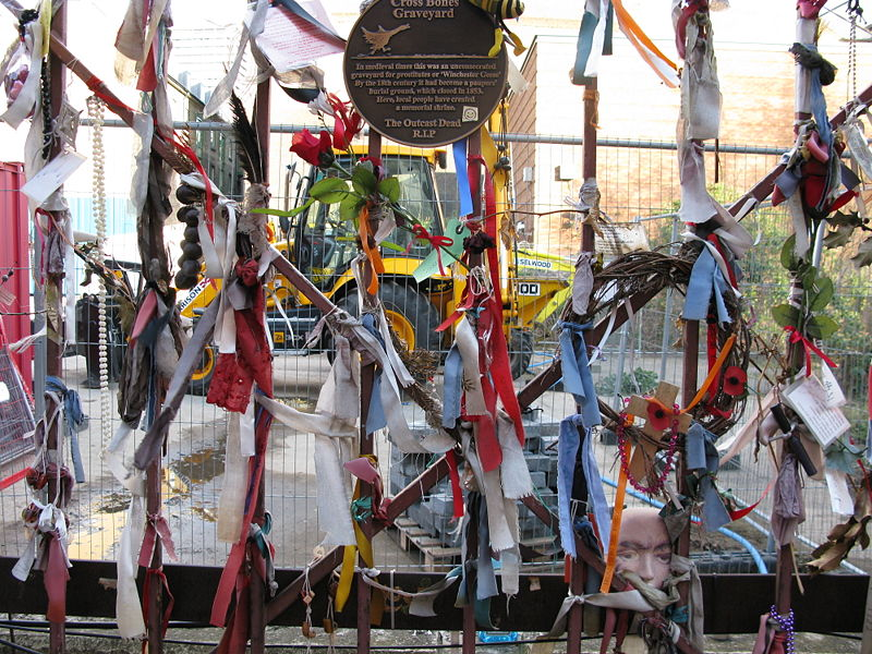 Cross bones graveyard in London - one of the best cemeteries to visit around the world