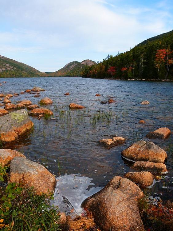 Jordan's Pond in Acadia National Park in Maine