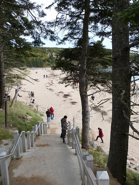 Sandy Beach in Acadia National Park, Maine