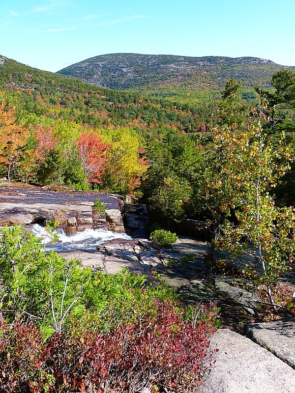 Hiking the Canon Brook trail in Acadia National Park, Maine