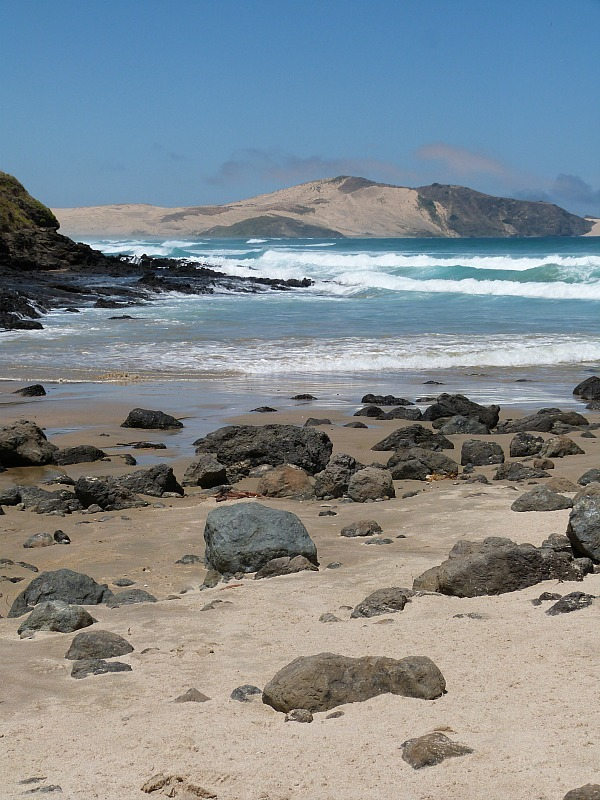 Wild beach near Cape Reinga New Zealand - a highlight of any Northland New Zealand Road Trip Itinerary