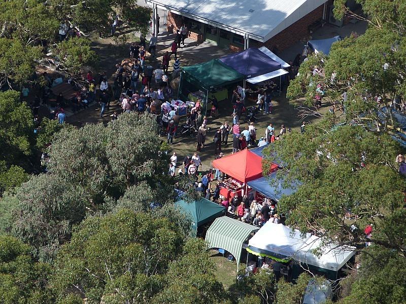View from Chatauqua Peak over Halls Gap in Grampians National Park, Australia