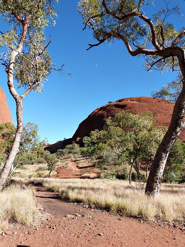 Hiking at Kata Tjuta, or The Olgas, in the Australian Outback