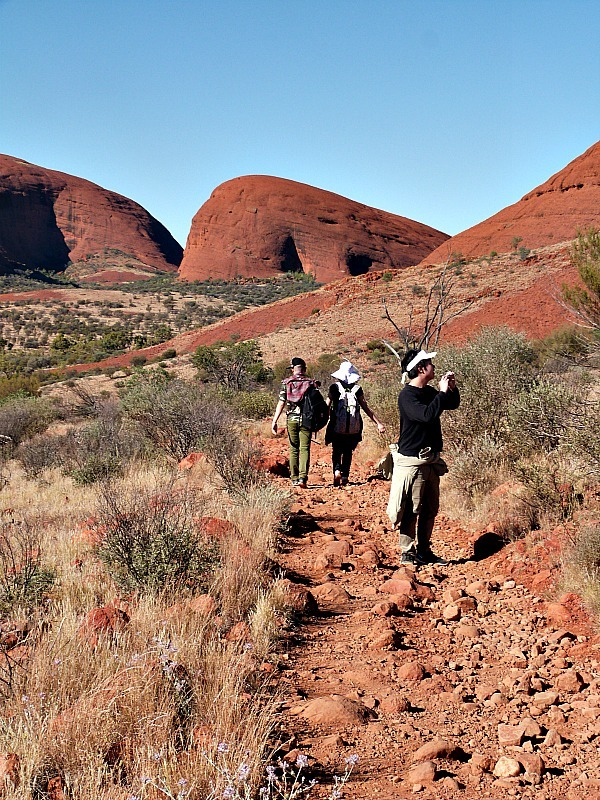 Hiking Kata Tjuta, or The Olgas, in the Australian Outback