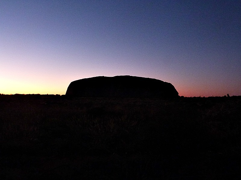 Sunrise at Uluru in the Australian Outback