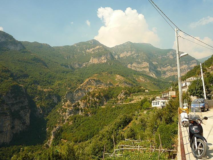 Pontone on the Amalfi Coast of Italy