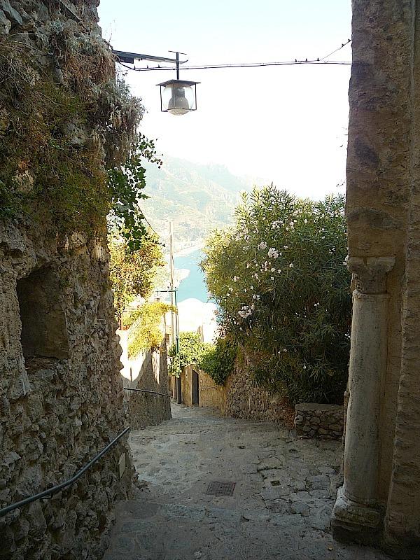 Walking around Ravello on the Amalfi Coast of Italy