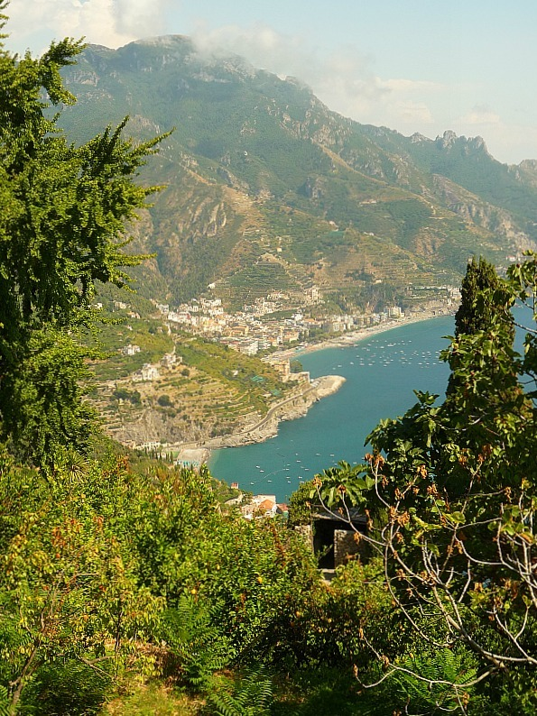 Views of the hike from Ravello down to Minori on the Amalfi Coast of Italy