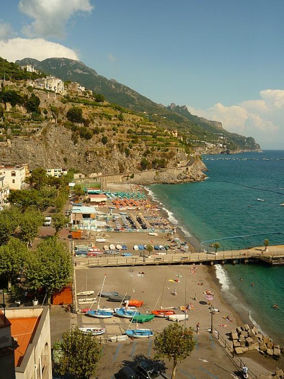 The seaside town of Minori on the Amalfi Coast of Italy