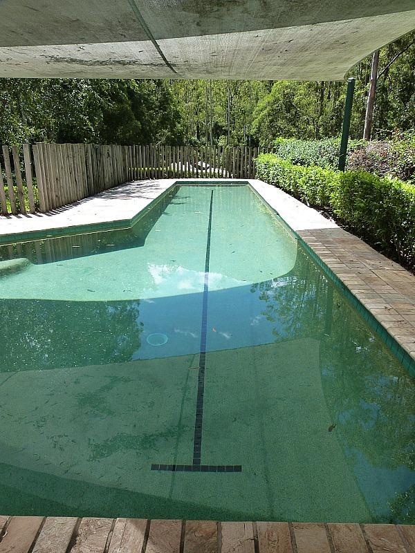Pool at Treetops house in Bellingen, Australia