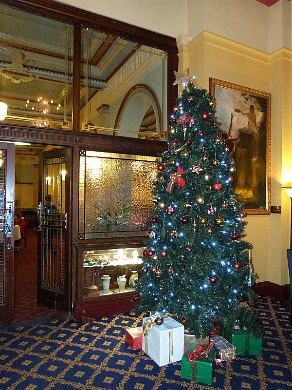 Yulefest decorations in the Carrington Hotel in the Blue Mountains