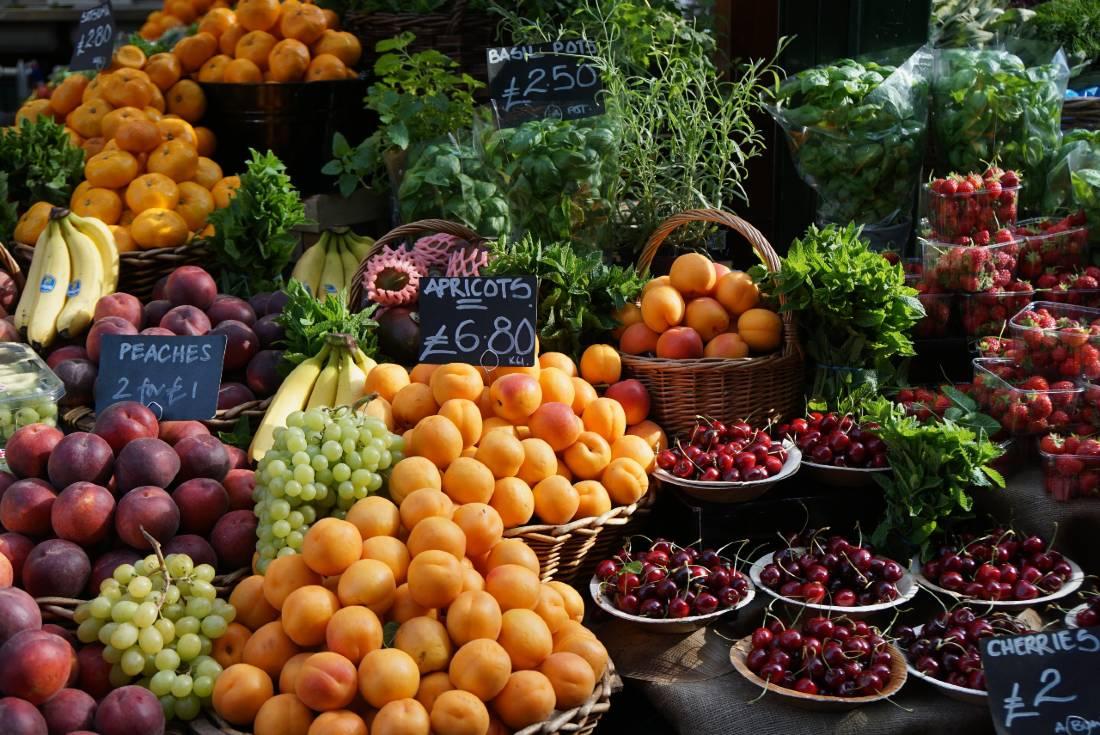 Fruit at Borough Market in London