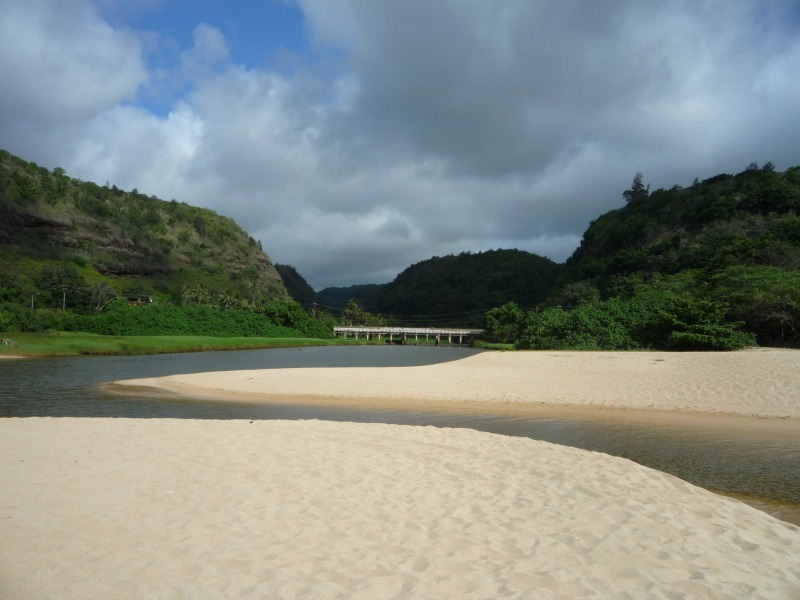 Waimea Bay Estuary in Hawaii