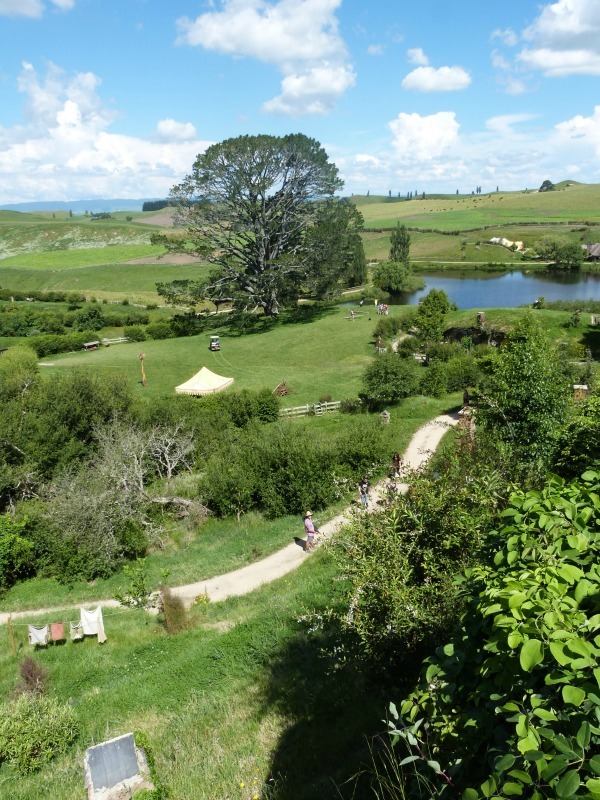 View from Bag End at Hobbiton New Zealand