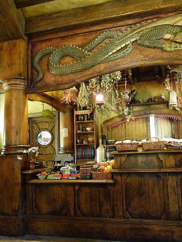 Inside the Green Dragon Inn at Hobbiton New Zealand
