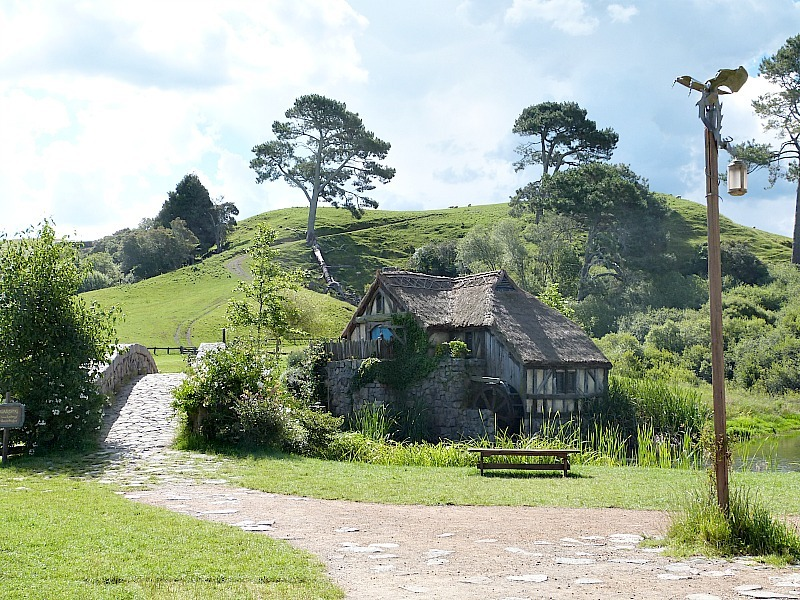 The Old Mill at the Hobbiton Movie Set in New Zealand