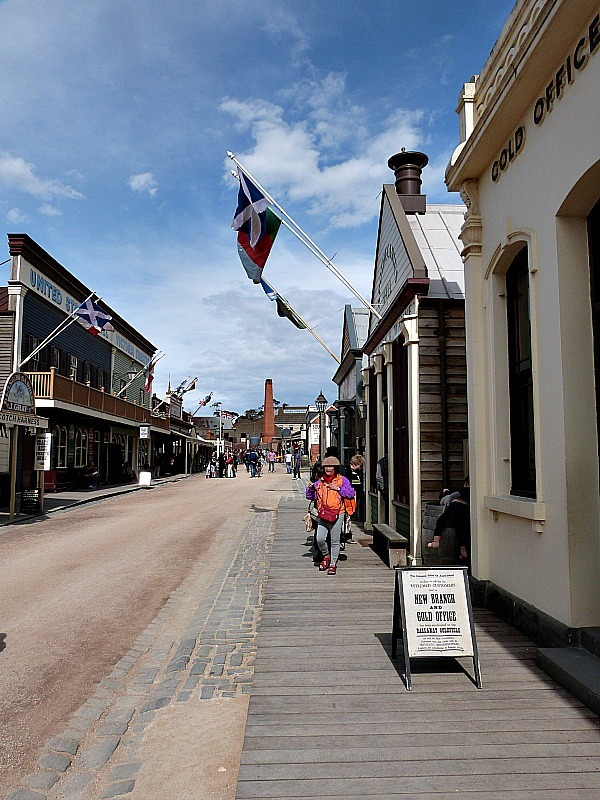 The Main Street at Sovereign Hill in Victoria