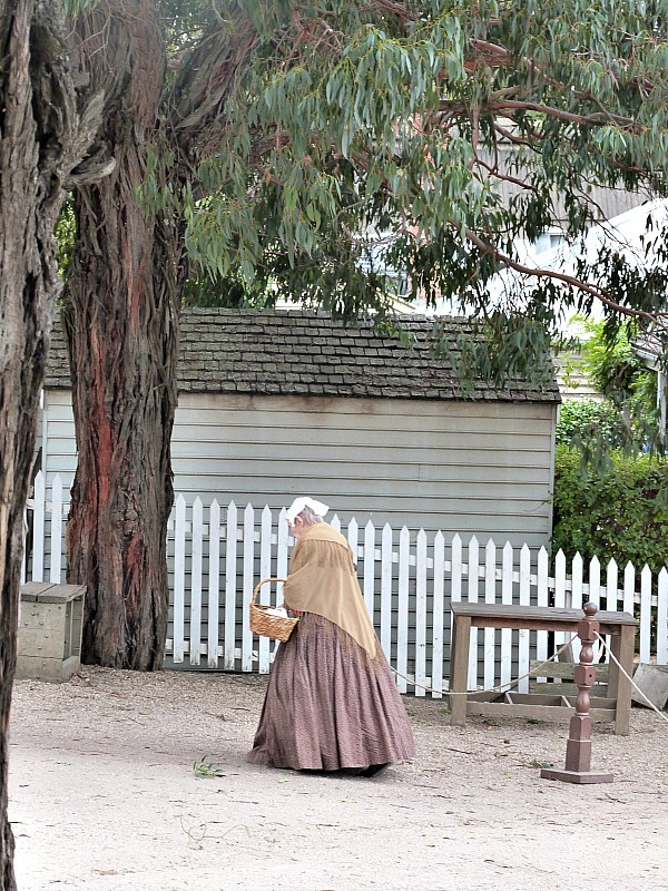People in costume at Sovereign Hill