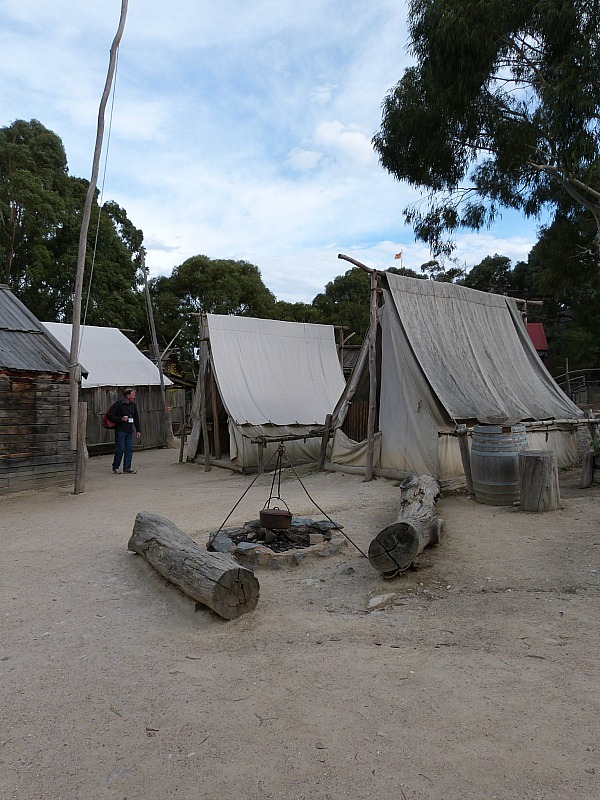 Recreated gold mining camp at Sovereign Hill, Victoria