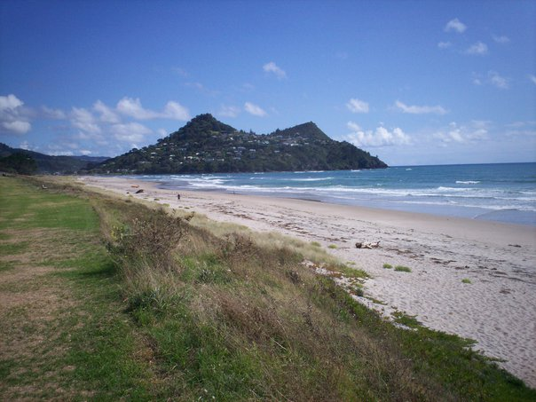 Pauanui Beach with Paku in the background