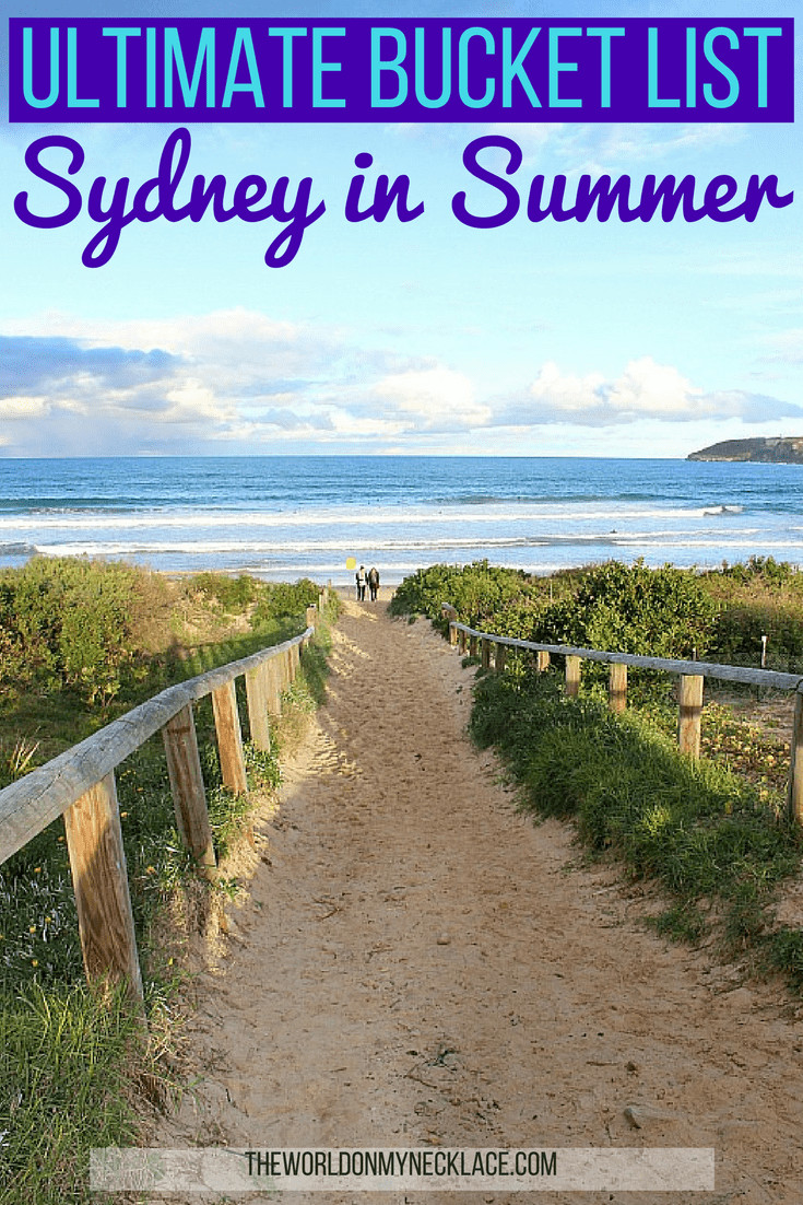 Ultimate Summer in Sydney Bucketlist