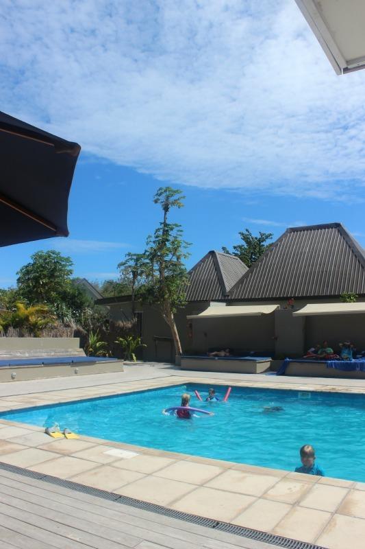 The pool at Blue Lagoon Resort on Nacula Island in Fiji