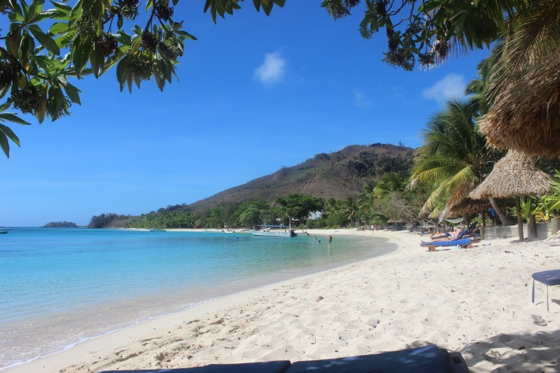 Beach time at Blue Lagoon Resort on Nacula Island in the Yasawa Islands of Fiji