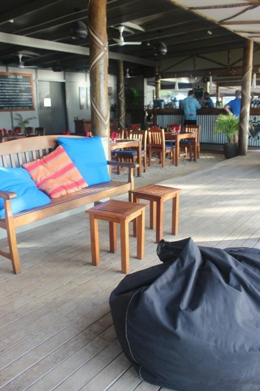 Dining room at Blue Lagoon Resort on Nacula Island in the Yasawa Islands of Fiji