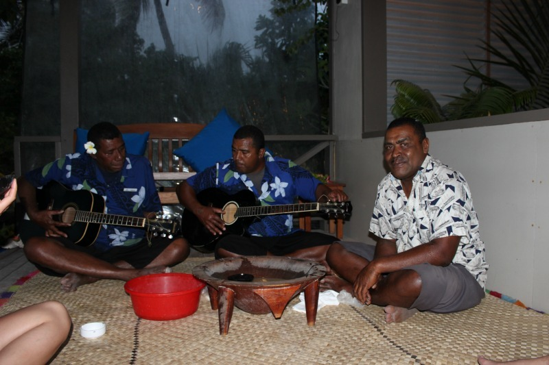 Kava ceremony at Blue Lagoon Resort on Nacula Island in the Yasawa Islands of Fiji