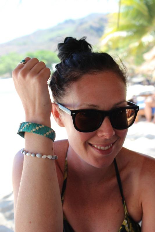Bracelet making at Blue Lagoon Resort on Nacula Island in the Yasawa Islands of Fiji
