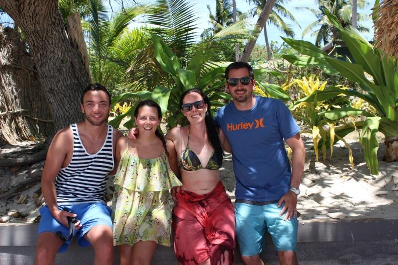 New friends at Blue Lagoon Resort on Nacula Island in the Yasawa Islands of Fiji