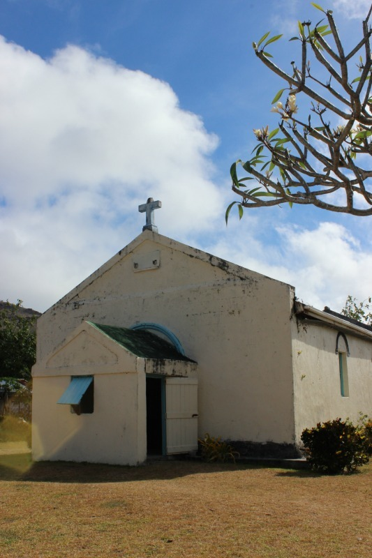 Church on a Traditional Village visit in the Yasawa Islands of Fiji