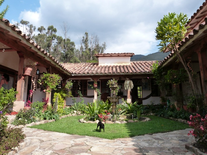 Our awesome hostel in Villa de Leyva, Colombia