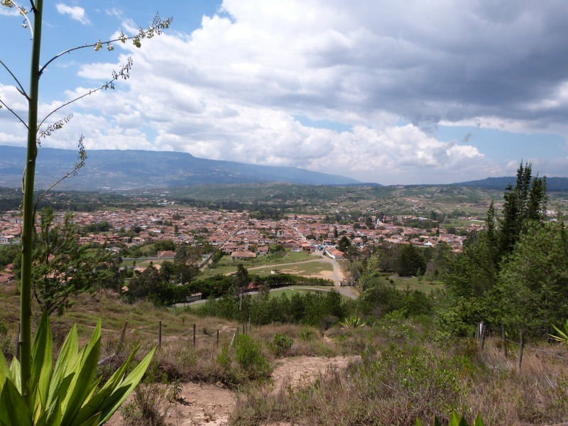 Enjoying the view over Villa de Leyva, Colombia - an off the beaten path South America Highlight