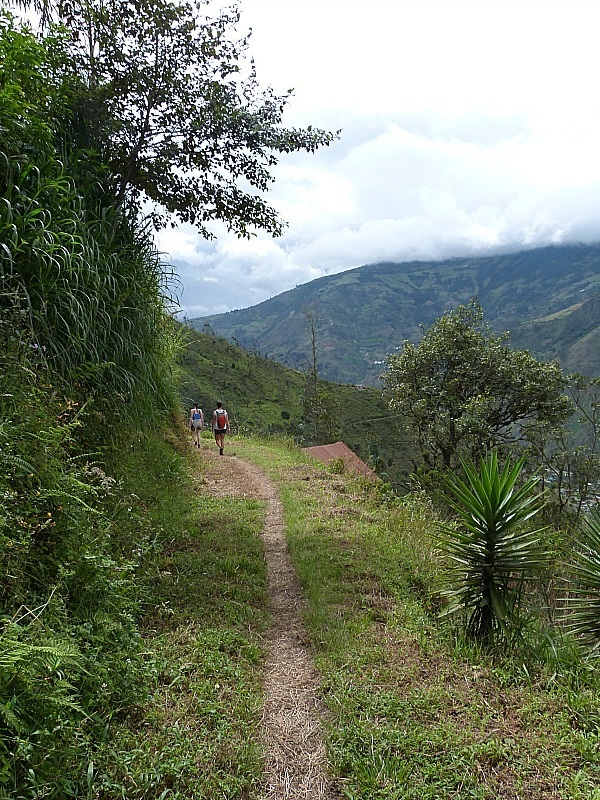 Hiking above Banos, Ecuador