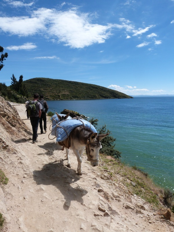 Day hiking on Isla de Sol in Bolivia