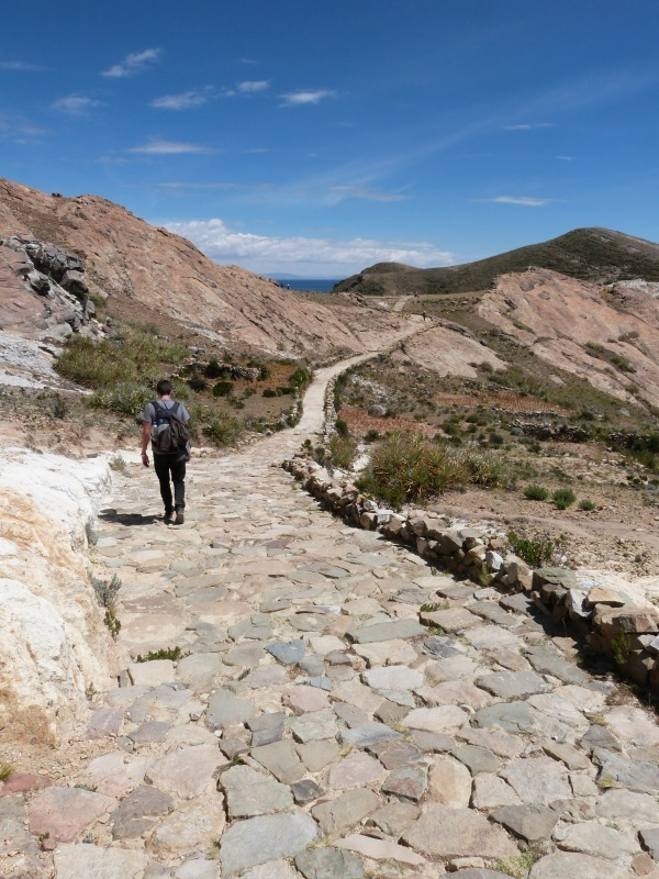 Hiking on Isla de Sol in Bolivia