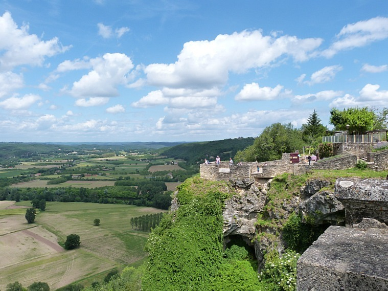 Wandering around Domme in the Dordogne Region of France