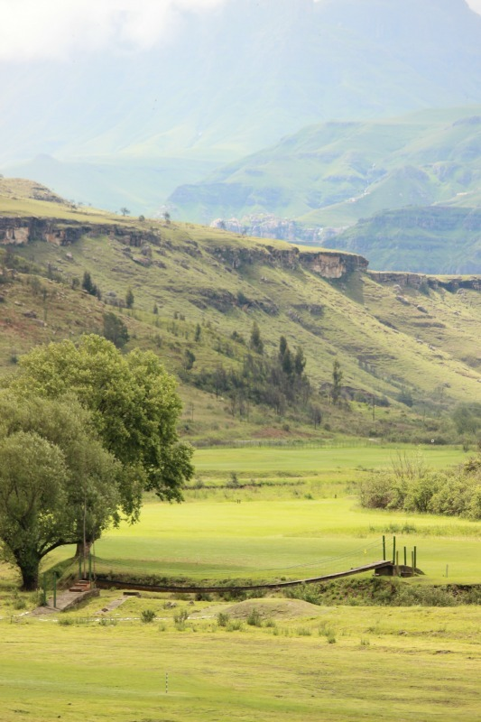 Views from The Sani Pass Hotel near the border to Lesotho
