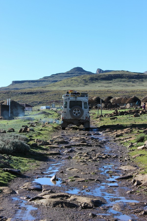 Grounds of the Sani Mountain Lodge in Lesotho