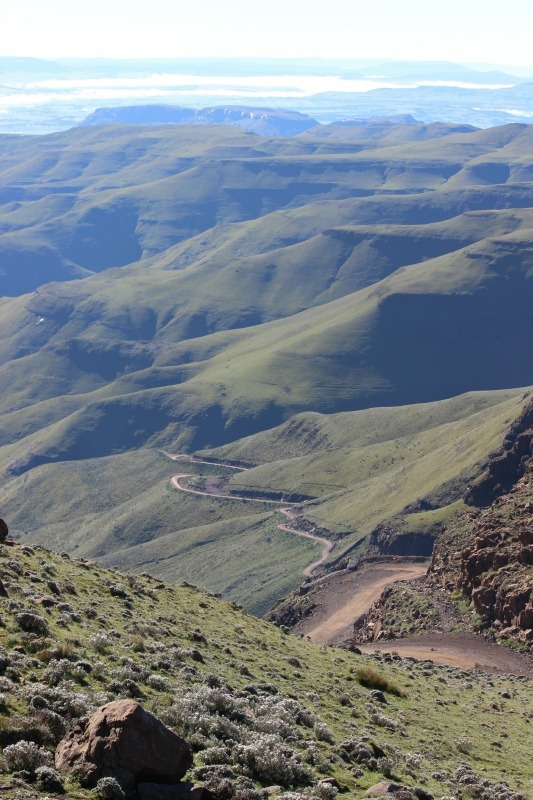Amazing views from the Sani Mountain Lodge in Sani Top. Lesotho