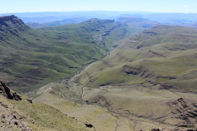Incredible views down into South Africa from Sani Top in Lesotho