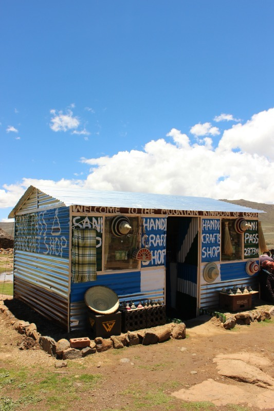 Handicrafts in Sani Top Lesotho