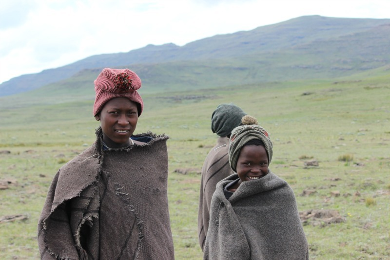 Local herders in Sani Top. Lesotho