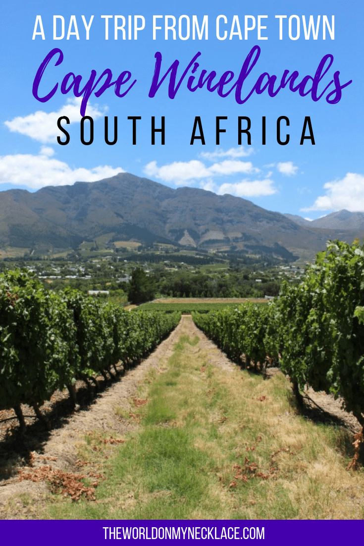 A Day Trip from Cape Town, South Africa: The Cape Winelands