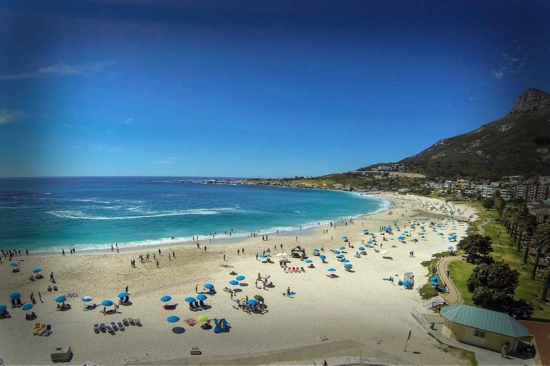 Camps Bay beach in Cape Town via themarly.co.za